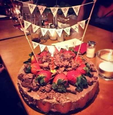 Chocolate Strawberry Cheesecake for Becky's 30th Birthday