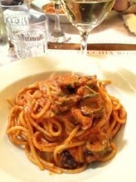 Spaghetti Parmigiana Flambè