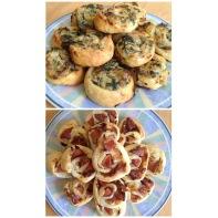 Spinach & Artichoke Dip and Seattle Hotdog Pinwheels